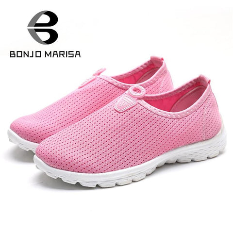 2016 hot sale popular mesh slip-on women flats more colors solid comfortable spring autumn outdoor shoes