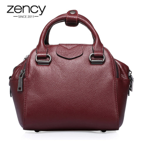 2016 Fashion Soft Genuine Leather Top Luxury Women Famous Brand Designer Handbags Ladies Tote Shoulder Messenger Small Bag Purse
