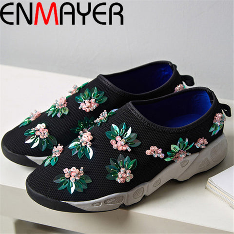 ENMAYER Black, pink New summer style shoes woman car-styling Fashion Sneakers women Sports Outdoor Running Sneakers Shoes