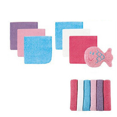 12pcs/lot USA Luvable Friends 12 Baby Washcloths With Bonus Toy, Blue or Pink, Free Shiping