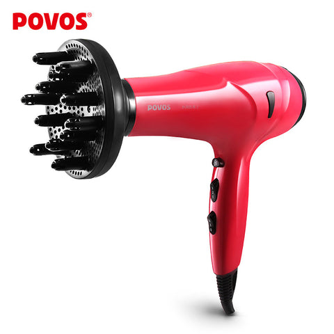 POVOS Styling Tools Hair Dryers Red Color Professional Hair Dryers with Blow Dryer 2200W 220V PW936