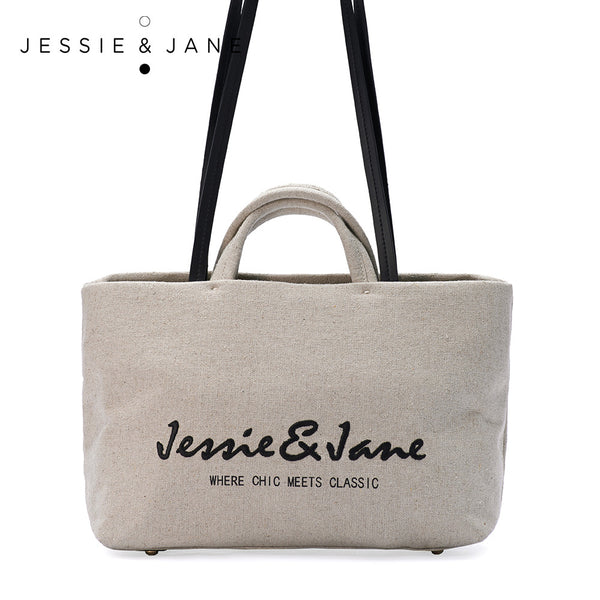 JESSIE&JANE 2015 NEW Women Bag Designer Brand Linen Ultra-Light Shopper  Shoulder Bag Jane Style 1036