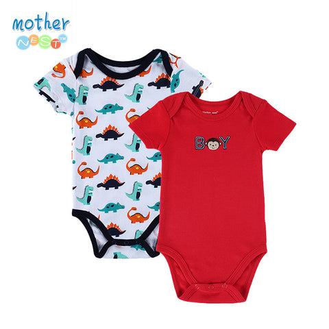 2 PCS/LOT 2015 Fashion High Quality Baby Romper Boy & Girl Cartoon Animal 0-12M Jumpsuit Ropa Bebe Body Suit Baby Clothes Romper