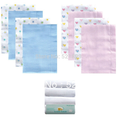 4pcs/lot USA Luvable Friends Breathable Baby Diapers Cotton Washable Soft Cloth Diaper Inserts Nappies