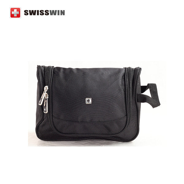 Swisswin Makeup Organizer Waterproof Toiletry Bag case Hanging Travel cosmetic Bags Men Toiletry Bathing Bag kit for Necessaries