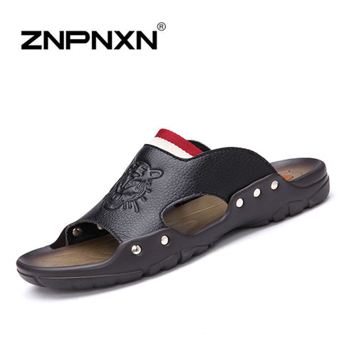 ZNPNXN 2016 New men's sandals men Genuine leather sandals outdoor casual men summer leather shoes for men