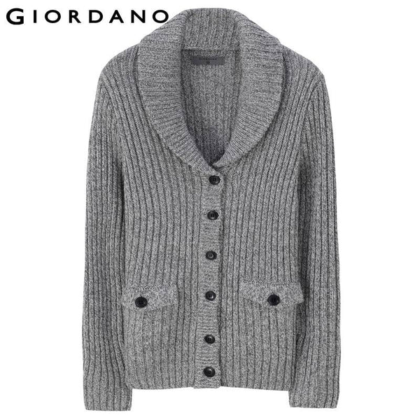 Giordano Men Shawl Neck Cardigan Wool Winter Man Sweaters Blusa Masculina Brand Sweater for Man Button Cardigans Strickjacke