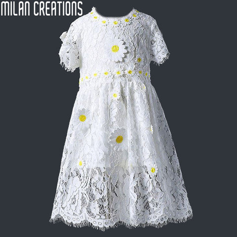 2015 Spring Autumn Girl Dress Floral Casual Children Dress Brand New Princess Dress Kids Clothes Baby Girls Dresses for Party