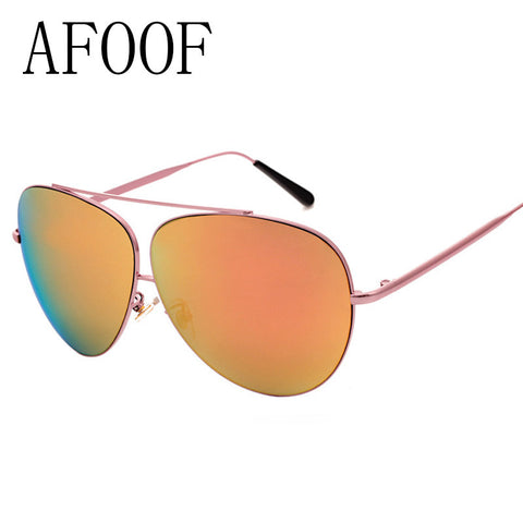AFOOF 2016 Fashion Oversized Sunglasses Brand Designer Alloy Frame Women Sun Glasses Men Big Frame Eyewear UV400 Oculos de sol