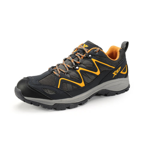 Free Shipping Xtep 2015 Men Shock Absorption Hiking Shoes Outdoor Sports Rubber Trekking Shoe Autumn Winter Waterproof Sneakers