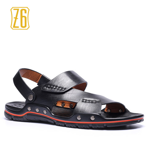 39-48 men sandals Classic style Cool Hollow Retro summer shoes #S93