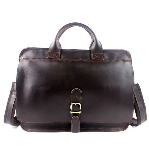 100% genuine leather men bag crazy horse leather men's handbags crossbody business laptop shoulder briefcase messenger bag 2016