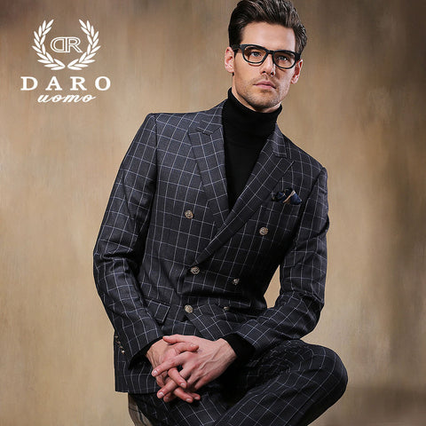 (Jacket+Pants) 2015 New Arrival Polyester Men Suits Brand Fashion Casual Slim Business Dress Formal Blazers Set DR8852-5