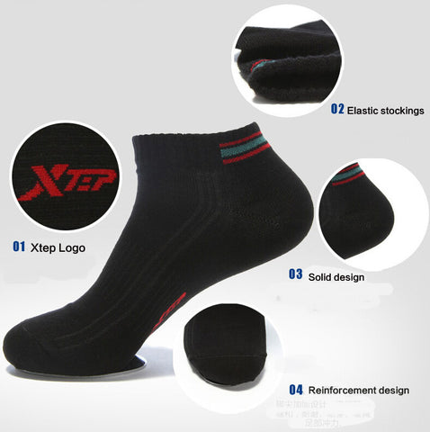 1 Pairs Xtep Men and Women Unisex Winter Thermal Sportswear Cotton Sports Men's Socks Athletic Running Comfortable Socks