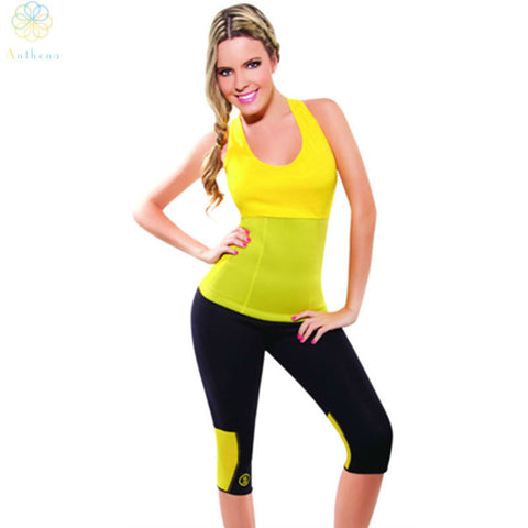 2016 Women Body Shaper Neoprene Hot Shapers Colorful Tank Top Sports Yoga Fitness Running Jogging Gym Second Generation Vest