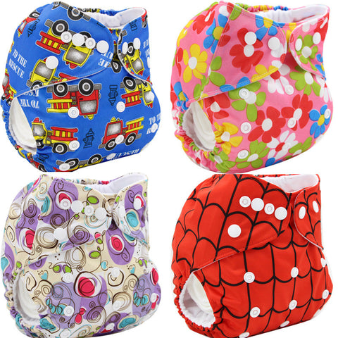 Cloth Diaper Washable Disposable Baby Diapers Reusable 2016 Brand Baby Nappies Soft Couche Cartoon Baby Diaper Cover