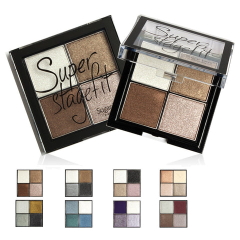 4 Color  Eye shadow Pigments Palette Eye Makup Eye Shadow Super Stage Fit By Sugar box #3