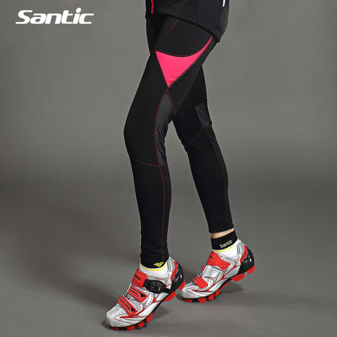 2015 Santic Cycling Full-Pants Purpel Bicycle Jersey Pants Black Tights Cycling Pants Women Cycling Pants Thermal Fleece LC04028