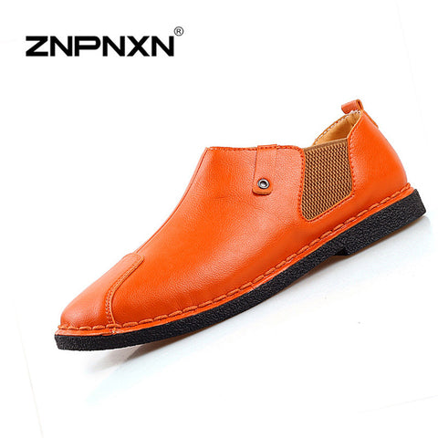 2016 New Genuine Leather Men Shoe Casual Oxford Shoes For Men