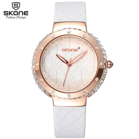 Big Shiny Crystal Rhinestone Clover Dial Design Rose Gold Watches Luxury Brand Dress Watch Women Fashion Wristwatch Party Reloj