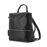 JESSIE&JANE Women 2016 Spring Fashion Leisure Arts Shoulder PU Leather Bag Black