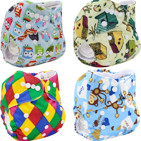 Brand Cloth Diaper Washable Baby Diapers Double-breasted 2016 Baby Nappies Soft Couche Cartoon Reusable Baby Diaper Cover