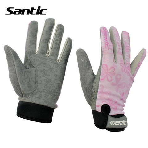 2016 Santic Summer Female Cycling Gloves MTB Male Gloves Bicycle Full Finger Fitness riding equipment sunscreen gloves C09012