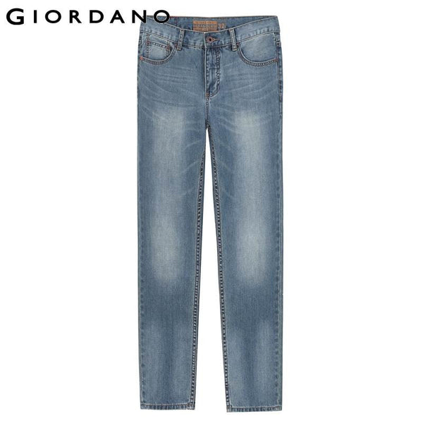 Giordano Men Famous Brand Destroyed Jeans Pocket Casual Denim Jeans Male Fashion Vintage Denim Pants for Men Calca Masculina