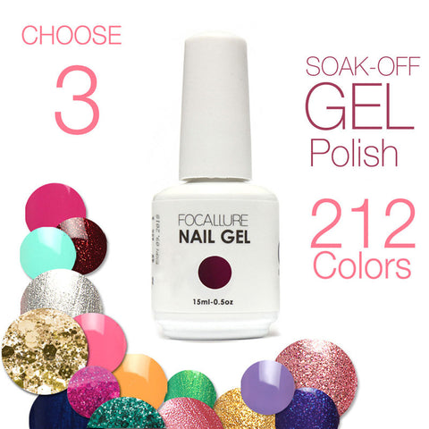 (Choose 3)Civi Nail Gel Polish Soak Off  Nail Gel UV 30 Days Long Lasting 200 Gorgeous Colors The Best Gel Polish