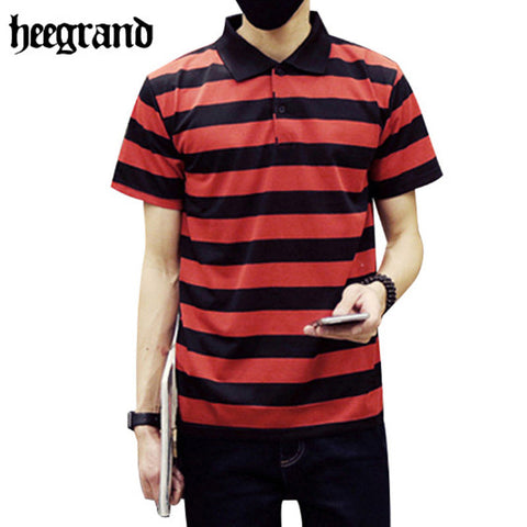 2016 Men Striped Polos High Quality Cotton Outdoor Sport Short Sleeve Men Breathable Casual Polos MTP337