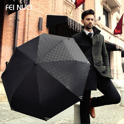 Business men's automatic embossing fino umbrella umbrella folding automatic umbrella open self closing umbrella