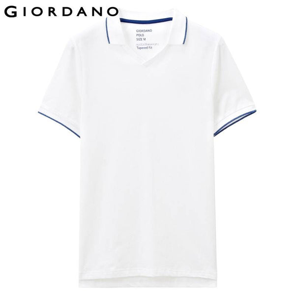 Giordano Men Polo Solid Short Sleeves V-neck Pique Polos Shirt Brand Clothing Masculino Camiseta Fit Famous Camisa Blusa