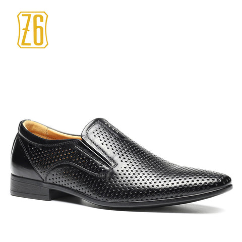 2016 new men dress shoes  Z6 brand breathable summer men leather flat shoes #8063