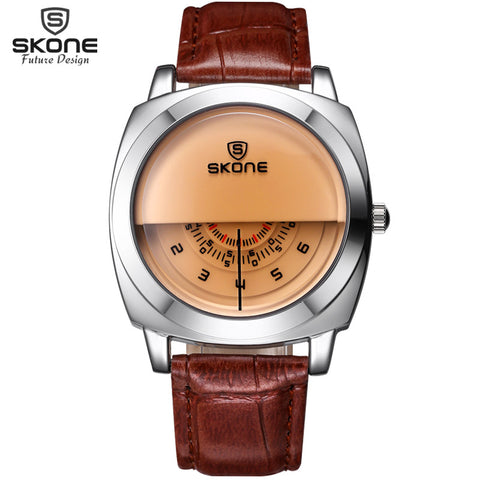 2015 New men watches leather strap luxury brand watches casual quatz dial vogue free shipping