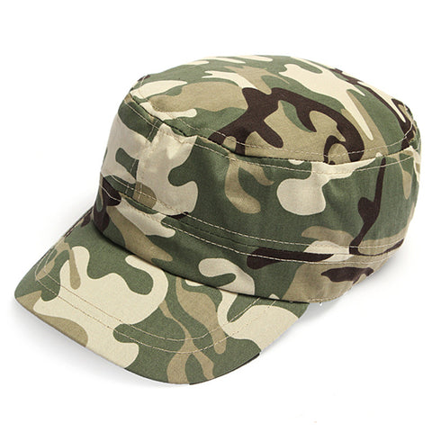 2014 Fashion Summer Kids Girls Boys Camo Camouflage Military Army Cadet Hat Flat Bill Sun Cap 2 Colors