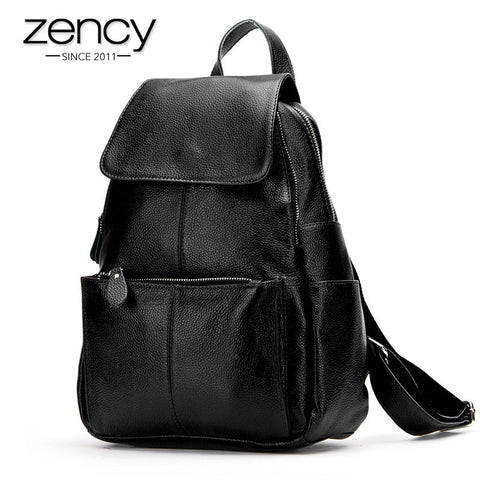 2014 Hot Most Popular Genuine Leather Casual Women Backpack Two Strap Shoulder Bag