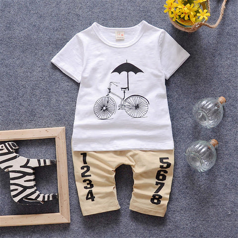 Boys & Girls Summer Sets Baby T shirt + Pant Sets Children Set 2016 Brand 2-5Y Short Sleeves T shirt  Kids Fashion Clothes Sets