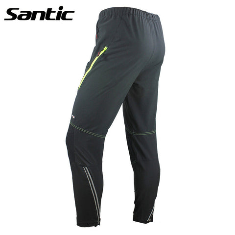 2015 Santic Cycling Winter Bike Casual Cycling Pants Men Cycling Sportswear Black Warm Pants Cycling Full Pants Long MC04013