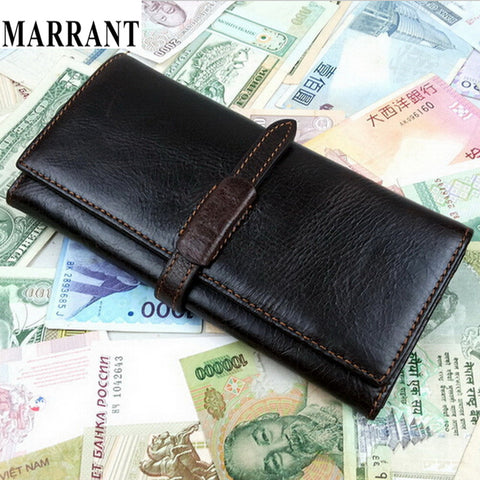 2015 Hot New Design Men fashion business genuine leather long wallet purse card holder men wallets man purse Free Shipping