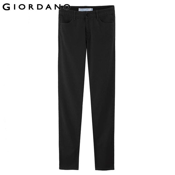 Giordano Women Slim Pants Fine Brushed Narrow Feet Casual Pants Calca Feminina Women Cargo Pants Femme Pantalons