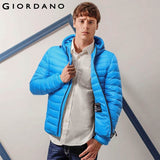 Giordano Men Lightweight Hooded Down Teflon White Duck Down Jacket Winter Parka Windproof Mens Winter Coat