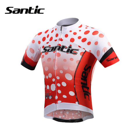 2016 Santic Pro fit Cycling Jerseys Mens Bike Riding MTB Short Sleeve Jerseys Cycling Colorful Cycling Clothing ciclismo MC02073