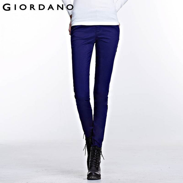 Giordano Women Solid Stretch Pants Slim Fit Long Trousers Mujer Pantalones Pour Femme Womens Pencil Pants Casual Chandal