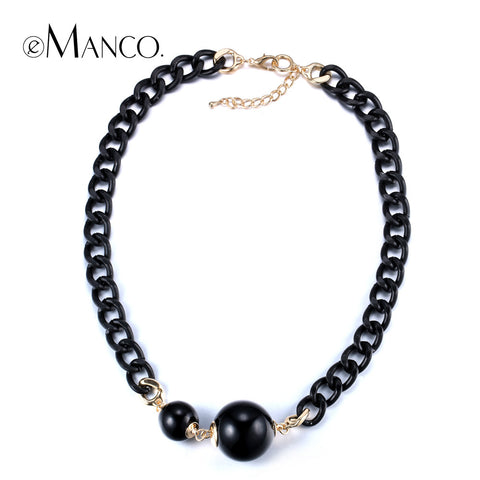 //Black pearl necklace cute necklace// chain link europe popular chokers necklaces 2015 summer women's necklaces eManco NL12800