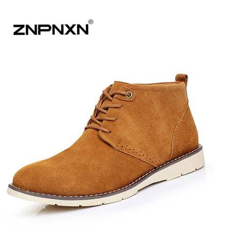 2015 New British Style Leather Men's Boots Fashion Cotton Brand ankle boots Shoes,Comfortable Winter Boots High Quality Leather