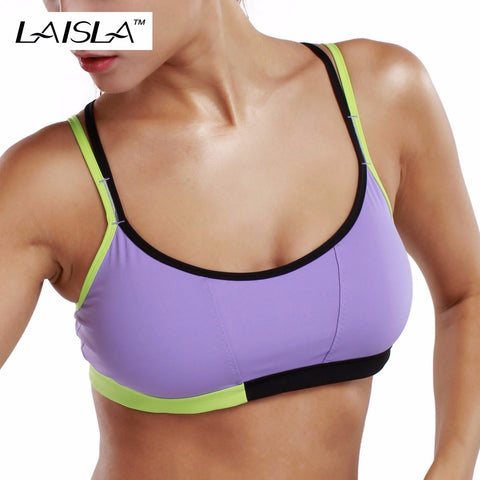 Brand New Removable Pad Wirefree Cool-Look Criss Cross Back Bandeau Yoga Sports Bra Top XS S M L XL