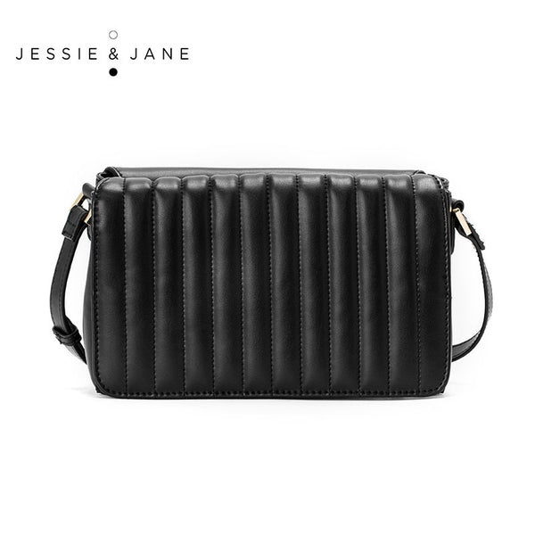 JESSIE&JANE Designer Brand 2016 New Arrival Women's Bag Vintage Double-faced Threaded Leather Messenger Bags