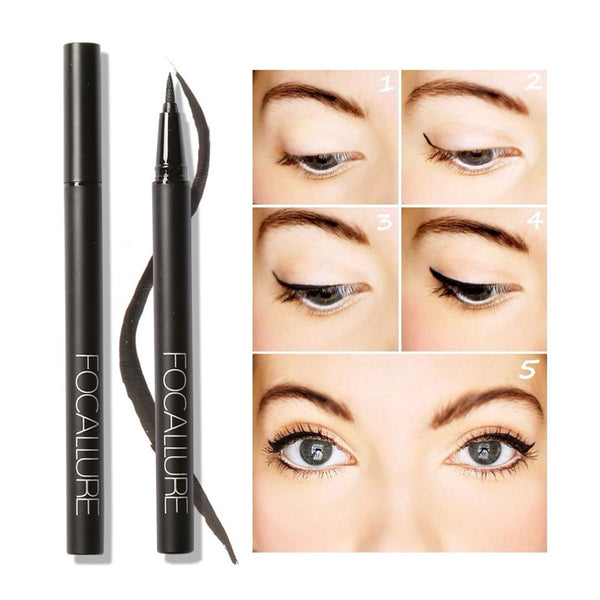 New Professional Liquid Eyeliner Pen Eye Liner Pencil 24 Hours Long Lasting Water-Proof by Focallure