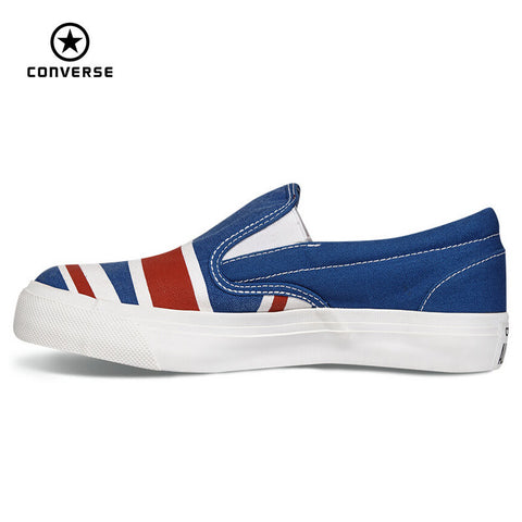 Original Converse all star shoes low sneakers United States and Britain's flag canvas shoes women Skateboarding free shipping