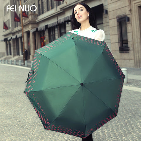 Beautiful brand female sun and rain anti-uv sun protection umbrella guarda chuva